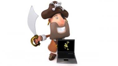 Crazy pirate — Stock Video