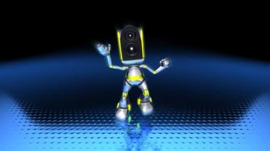 Robot Dancing to techno (loopable) — Stock Video