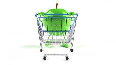 Apple shopping — Stock Video