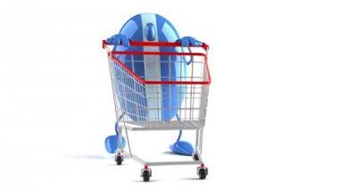 Online winkelen — Stockvideo