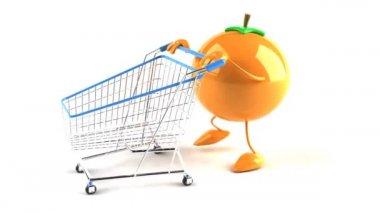 橙色购物 — 图库视频影像