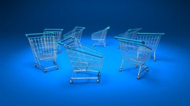 Shopping carts — Stock Video