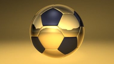 Soccer ball, loopable with alpha channel — Stock Video