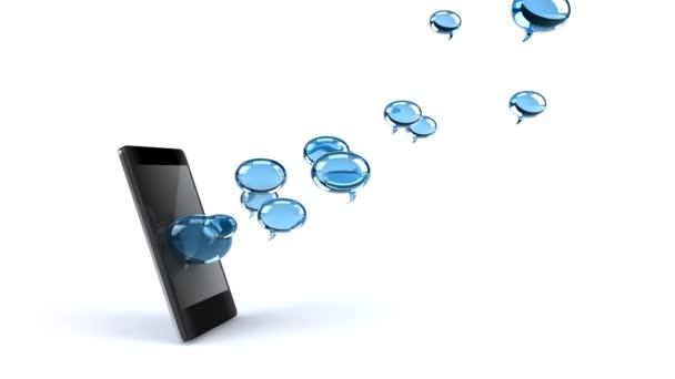Smartphone et bulles — Vidéo