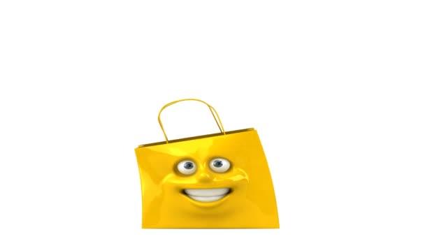 Bolso de compras feliz — Vídeo de stock