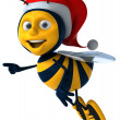Santa bee — Stock Photo