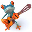 Frog with guitar — Stock Photo