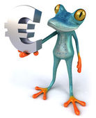 Frog with a euro — Stock Photo