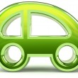 Stock Photo: Green car