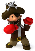 Pirate boxing — Stock Photo