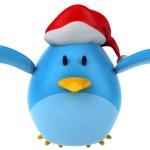 Blue bird santa — Stock Photo #13751961