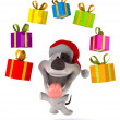 Fun santa dog — Stock Photo