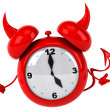 Evil alarm clock — Stock Photo #14230677