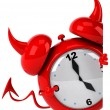 Evil alarm clock — Stock Photo #14230687