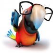 Parrot and phone — Stock Photo #14369995