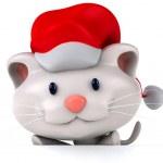 Fun santa cat — Stock Photo