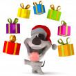 Fun santa dog — Stock Photo #14748047