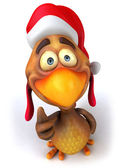 Santa chicken — Stock Photo