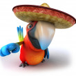 Stock Photo: Parrot in sombrero