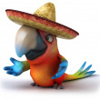 Parrot in sombrero — Stock Photo #14813005