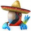 Royalty-Free Stock Photo: Parrot in sombrero