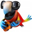 Fun parrot with a guitar — Stock Photo #15433983