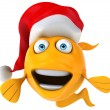 Fun christmas fish — Stock Photo