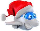 Christmas plane — Stock Photo
