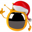 Royalty-Free Stock Photo: Fun television in the Santa hat