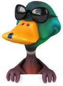 Fun duck in sunglasses — Stock Photo