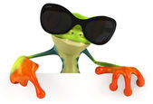 Fun frog in sunglasses — Stock Photo