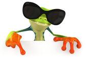 好玩的青蛙在太阳镜 — 图库照片
