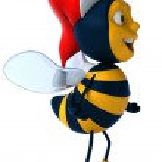 Fun bee — Stock Photo #16887237