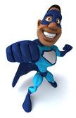 Svart superhjälte — Stockfoto