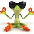 Zen frog 3D — Stock Photo