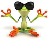 Zen kurbağa 3d — Stok fotoğraf