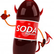 Stock Photo: Evil soda