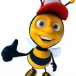 Cute bee — Stock Photo