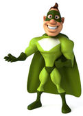 Green superhero — Stock Photo