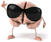 Brain and sun glasses — Stock Photo