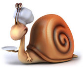 Snail chef — Stock Photo