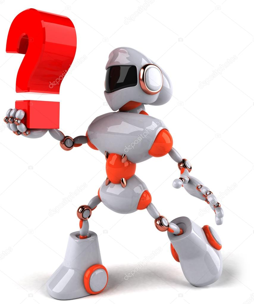 com  有趣的機器人在一起紅色問號圖標 vikasuh  機器人保持問題圖片