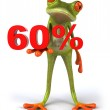 Frog offering discount 3d — Stock Photo