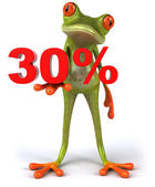 Frog offering discount 3d — Stockfoto