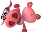 Happy Pig 3d illustration — Stock Photo
