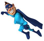 Super hero flying — Stock Photo