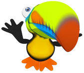 Fun toucan — Stock Photo