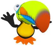 Fun toucan — Stock Photo