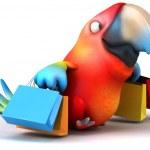 eğlenceli bir papağan — Stok fotoğraf