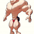 Cartoon bodybuilder — Stock Photo